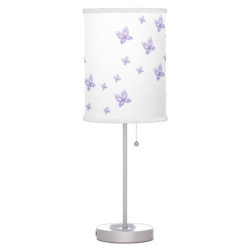 Purple Butterflies Desk Lamp