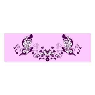Purple Butterflies Double-Sided Mini Business Cards (Pack Of 20)