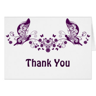 Purple Butterflies Greeting Card