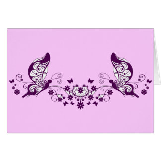 Purple Butterflies Greeting Cards