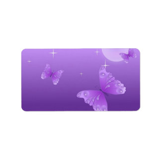 Purple Butterflies in the Sun Label
