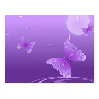 Purple Butterflies in the Sun Postcard