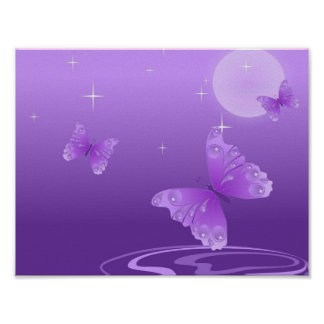 Purple Butterflies in the Sun Print