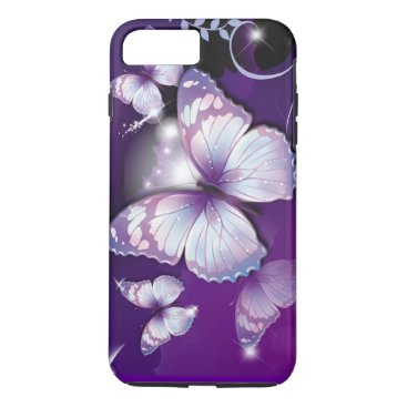 birthday Purple Butterflies iPhone 7 Plus Case