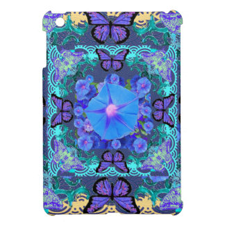 Purple Butterflies Lace Floral Gifts iPad Mini Cover
