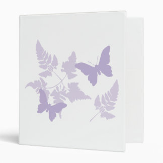 Purple Butterflies Lavender Ferns Binder