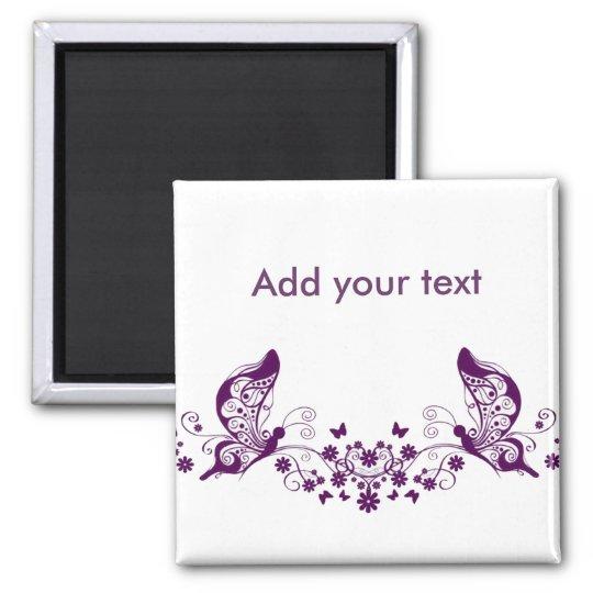 Purple Butterflies Magnet