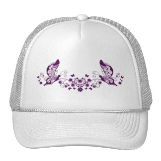 Purple Butterflies Mesh Hats