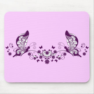 Purple Butterflies Mouse Pads