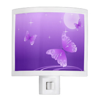 Purple Butterflies Night Light