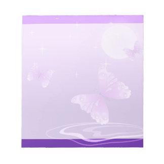 Purple Butterflies Note Pads