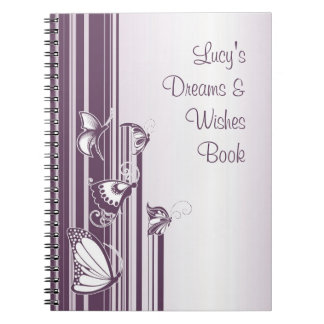 Purple Butterflies Notebook