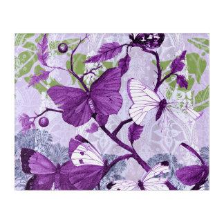 Purple Butterflies on a Branch Acrylic Print
