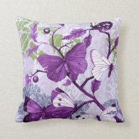 Purple Butterflies on a Branch American MoJo Pillows