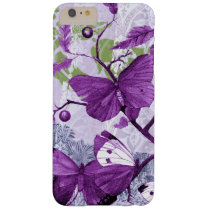 Purple Butterflies on a Branch Barely There iPhone 6 Plus Case