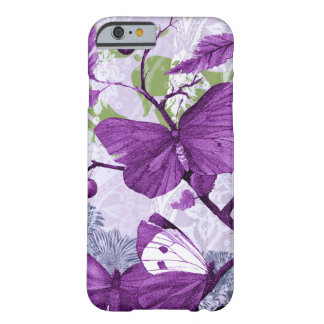 Purple Butterflies on a Branch Barely There iPhone 6 Case