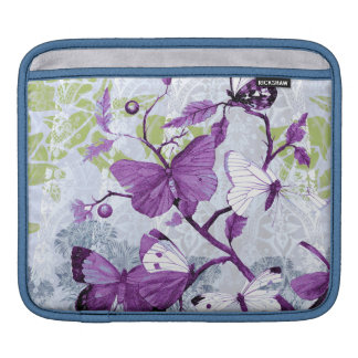 Purple Butterflies on a Branch Sleeve For iPads