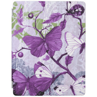 Purple Butterflies on Branches iPad Cover