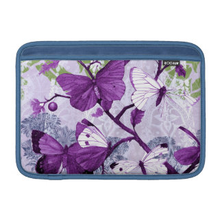 Purple Butterflies on Branches Sleeves For MacBook Air