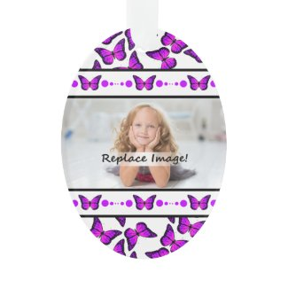 Purple Butterflies Photo Picture Frame