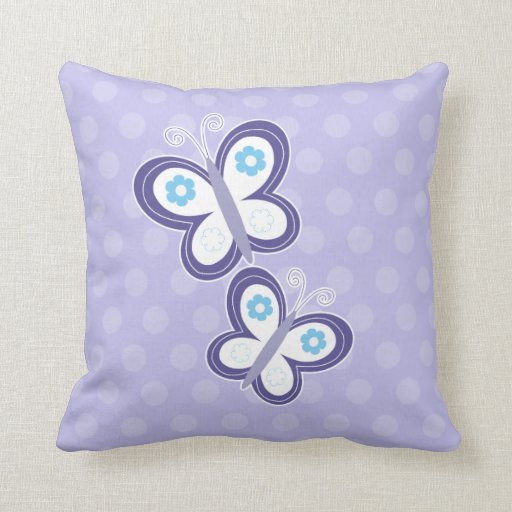 Purple Butterflies Pillow