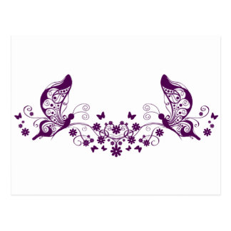 Purple Butterflies Post Card