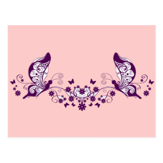 Purple Butterflies Postcards