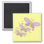 Purple Butterflies Refrigerator Magnets