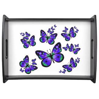 Purple Butterflies Serving Tray