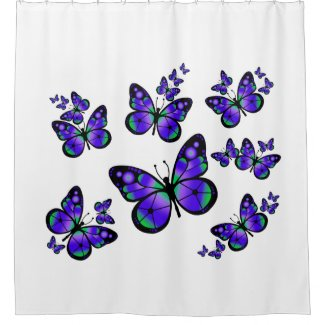 Purple Butterflies Shower Curtain