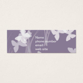 Purple butterflies Skinny Business Card Design