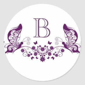 Purple Butterflies Sticker