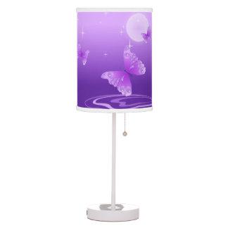 Purple Butterflies Table Lamp