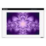 """Purple butterflower 15"""" laptop decal"""
