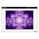 """Purple butterflower 15"""" laptop decals"""