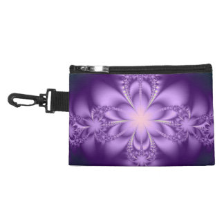 Purple butterflower accessory bag