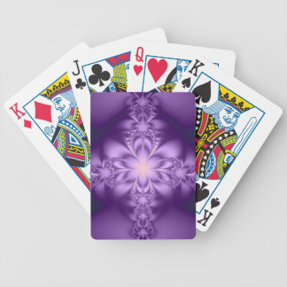 Purple butterflower bicycle playing cards