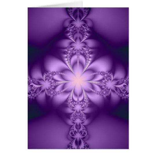 Purple butterflower - Blank Card