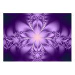 Purple butterflower business card template