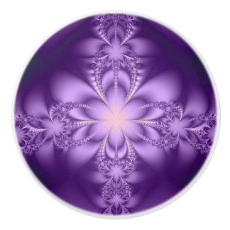 Purple butterflower ceramic knob