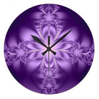 Purple butterflower clock