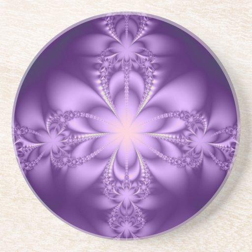 Purple butterflower coaster