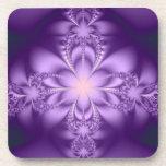 Purple butterflower coasters