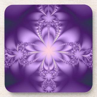 Purple butterflower drink coaster