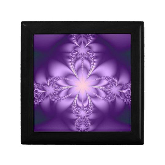 Purple butterflower jewelry box