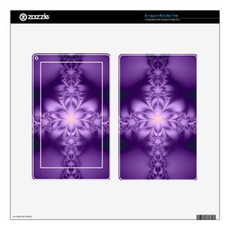 Purple butterflower kindle fire skin