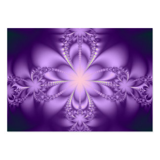 Purple butterflower large business cards (Pack of 100)