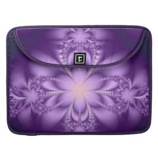 Purple butterflower MacBook pro sleeve