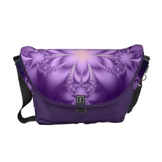 Purple butterflower messenger bag