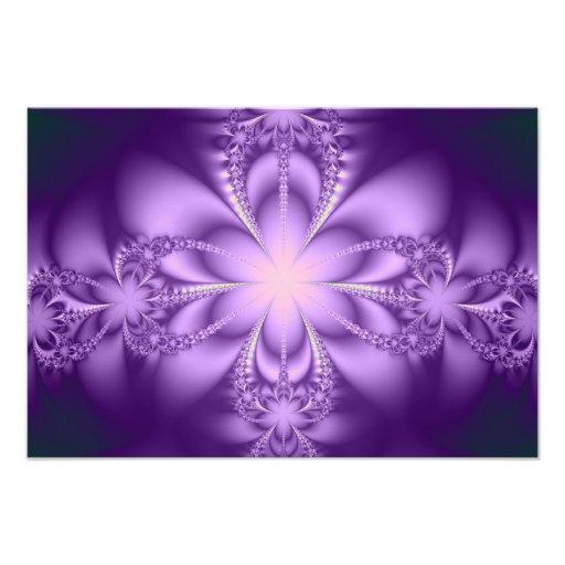 Purple butterflower photo print